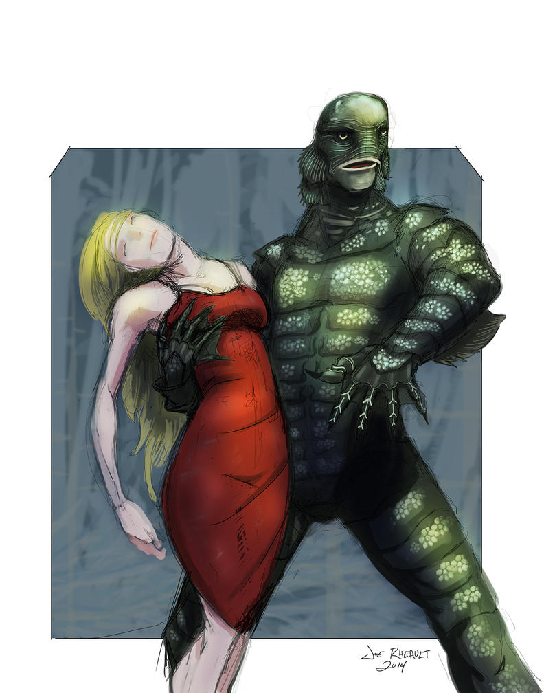 Creature From Black Lagoon by dirtyinks