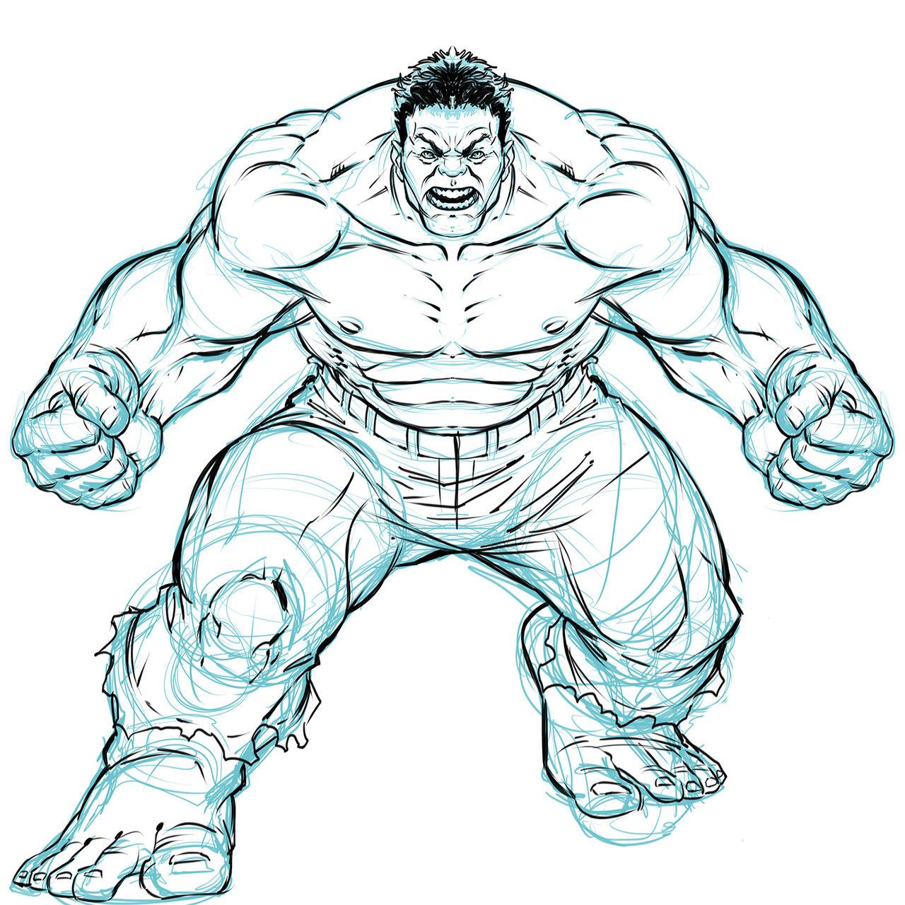 Hulk Sketch By DeonN On DeviantArt