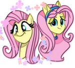 Pony Fluttershy and EQG Fluttershy