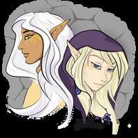 Elven friends by NaurEvan