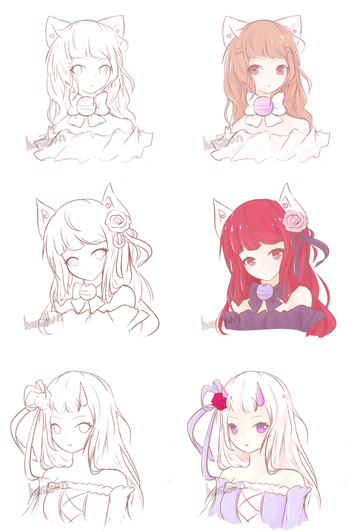 Sketch Commission Batch 1 by haniibun
