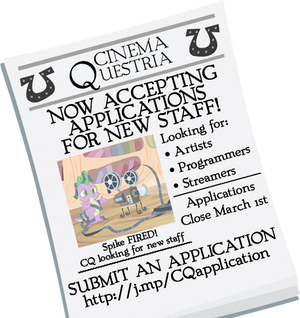 CinemaQuestria-Looking for new staff members! by EverlastingJoy