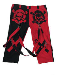 Red and Black Skull Pants