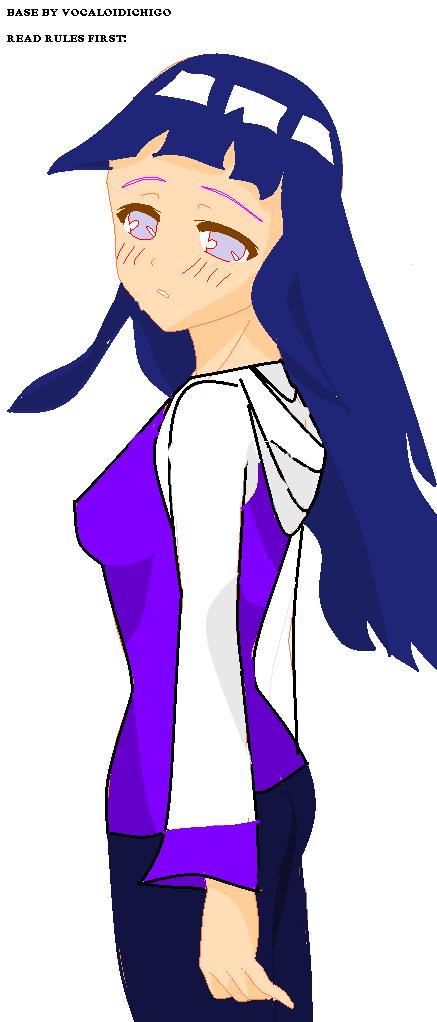 Hinata looking back by Espada-Shinigami