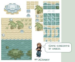 Beach tiles by XDinky by XDinky