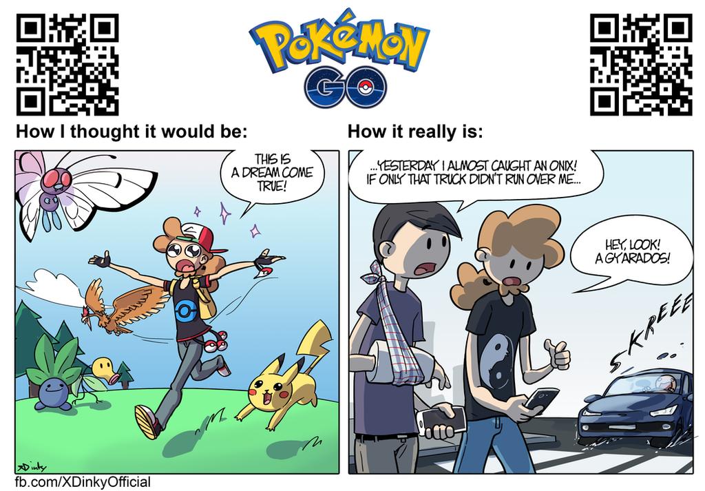 Pokemon GO Reality vs Fantasy by XDinky