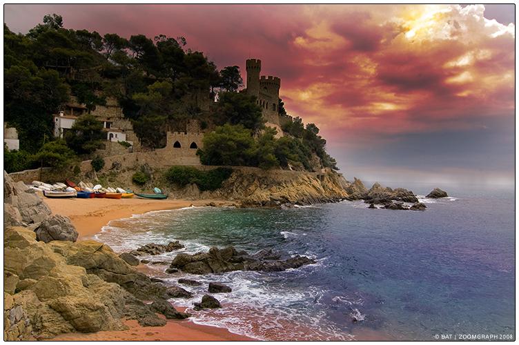 Castle on Costa Brava by 0bat0