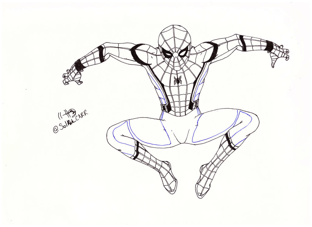 Asombroso Spiderman Para Colorear Fotos Molde - Ideas Para Colorear ...