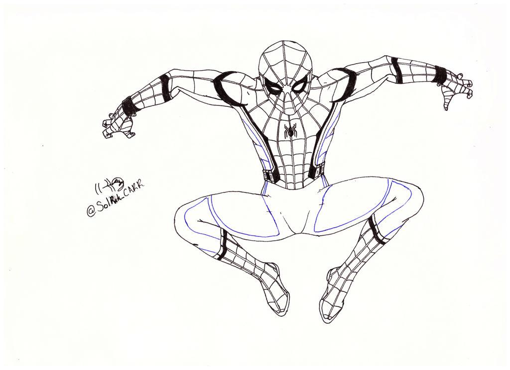 Spiderman Para Colorear By Solrakyc On Deviantart