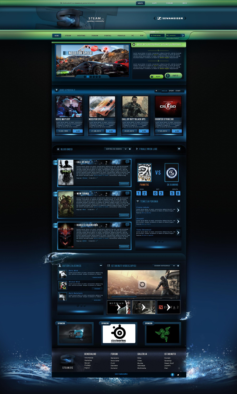 Gaming Web Templates. 40 gaming website themes templates free ...