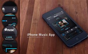 iPhone Music App by BorisWick