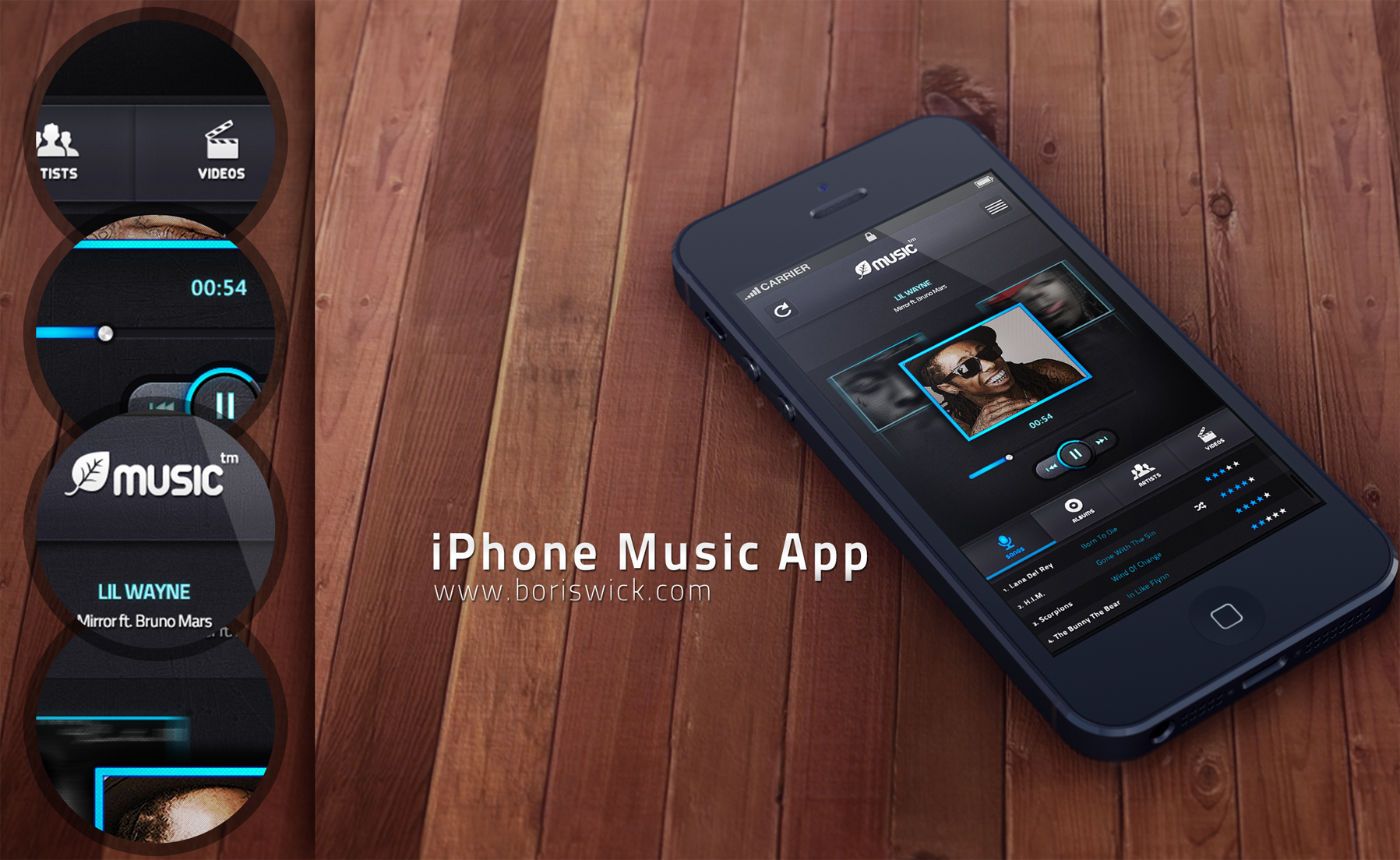 iphone music apps iphone app by boriswick on deviantart 3087