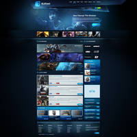 Blue Gaming Template 2014 FOR SALE by BorisWick