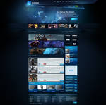 Blue Gaming Template 2014 FOR SALE