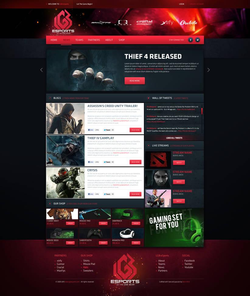 LGB eSport Web Design by BorisWick