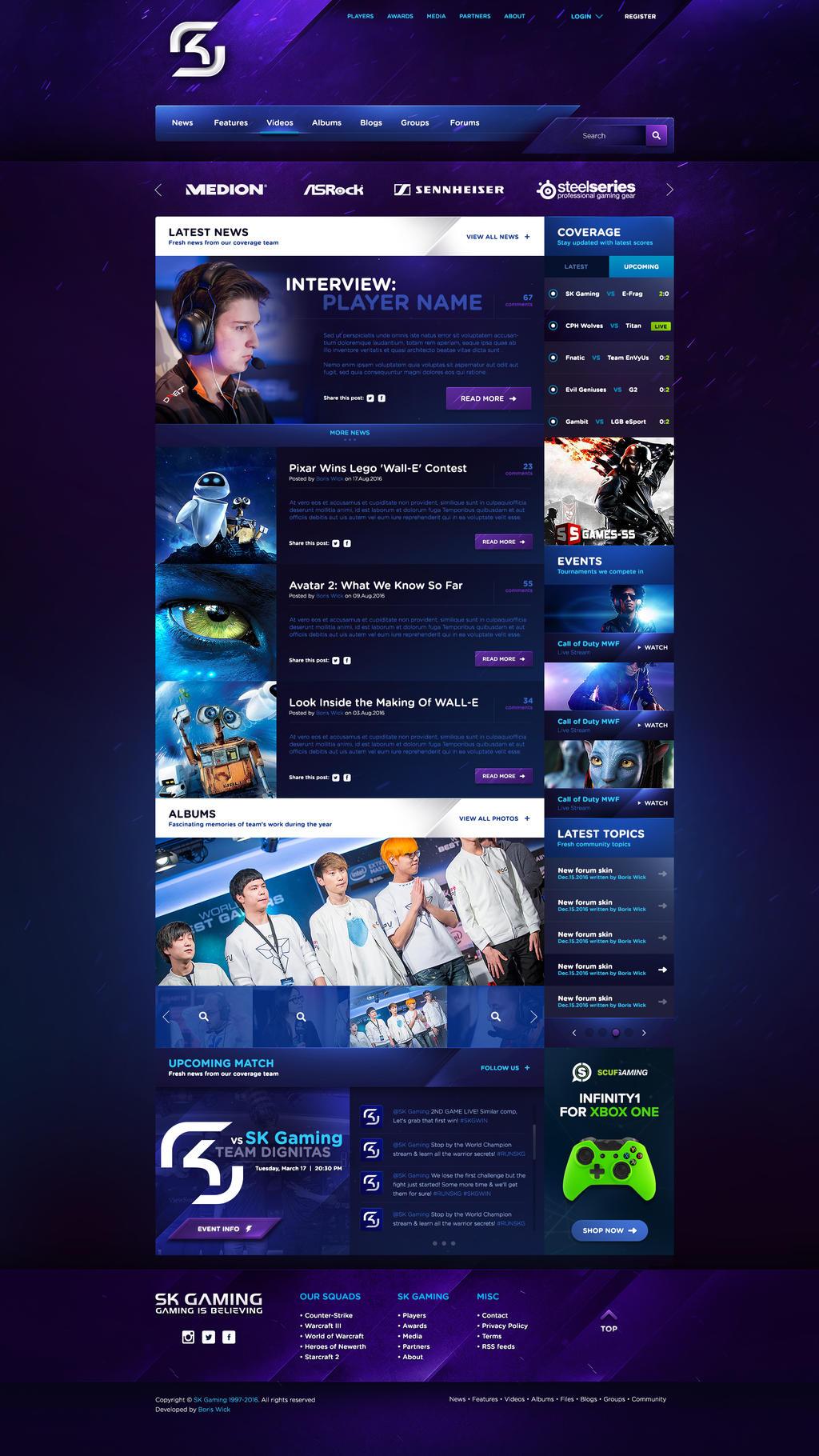 SK Gaming eSport Template