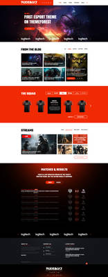eSports Gaming Theme For Clans and Organizations