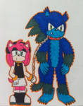 Amy and Werehog Sonic