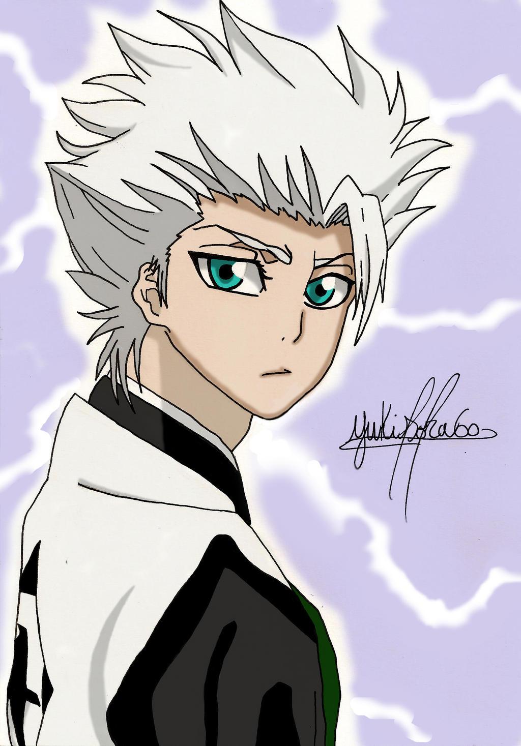Bleach Captain Hitsugaya Drawing By YukiSora60