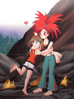 Commission: May and Flannery Hot Footed by Agu-Fungus