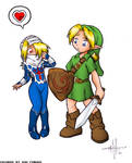 Link and Sheik, by gunmouth