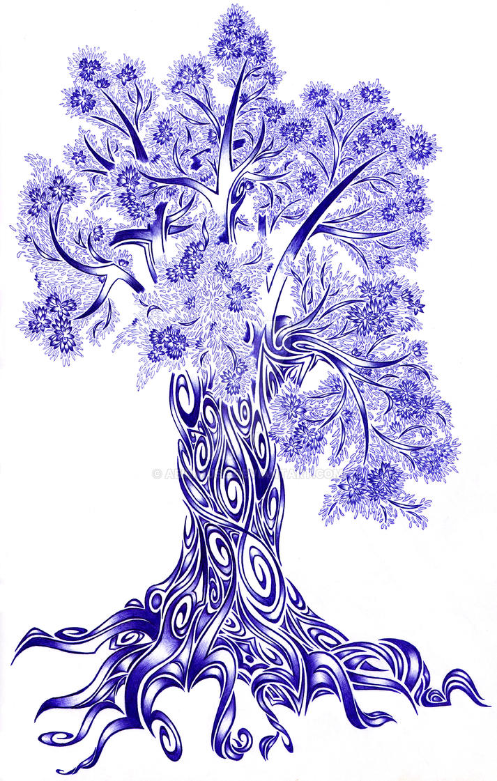 Tribal Blossom Tree