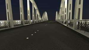 Fairfield Bridge From Road, Night