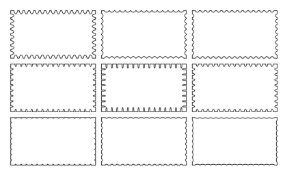 Scalloped Edges by default-cube