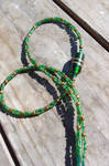 Two Tone Green 20s Inspired Necklace