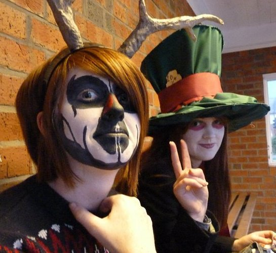 dead reindeer and mad hatter by lauranoir on deviantart