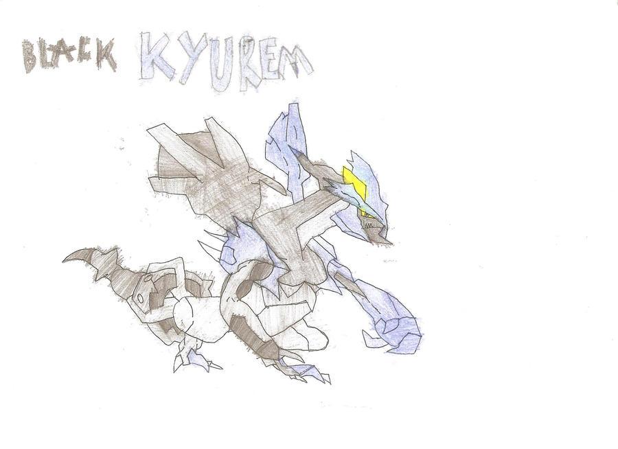 How to draw black kyurem