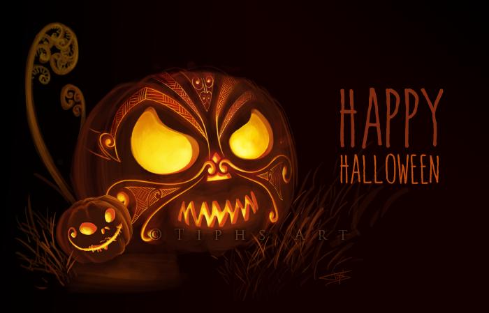 Maori style halloween ! by Allunia-dream