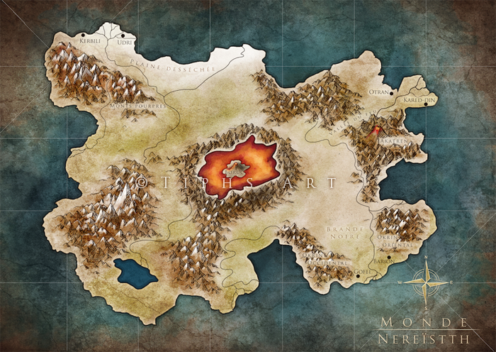 Commission - Nereisth worldmap by Tiphs
