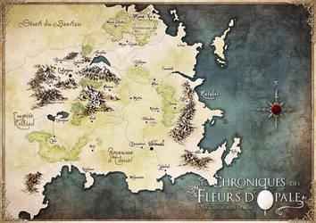 Map Commission : Les Chroniques des Fleurs d'Opale by Tiphs