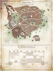 Commission : city map of Simiones by Tiphs