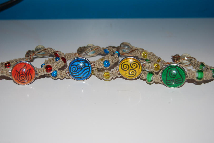 Elemental Hemp Bracelets by zeldalilly