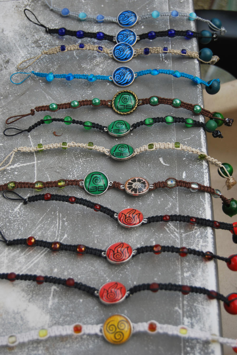 Multi Avatar Bracelets by zeldalilly