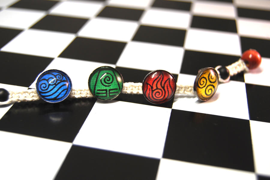 Avatar Elements Bracelet by zeldalilly