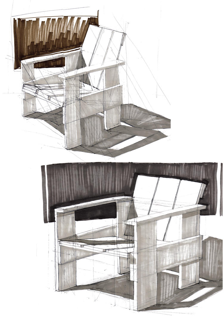 Product design wooden chair by bata4 on deviantart for Product design chair