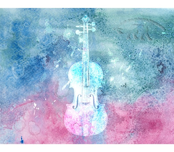 Abstract Violin CD case Back by MukArt on DeviantArt