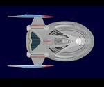USS TITAN DORSAL VIEW DETAILED
