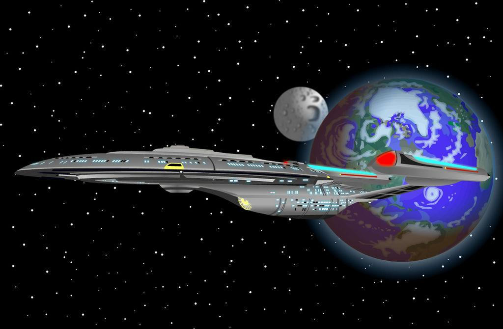 Enterprise in earth orbit