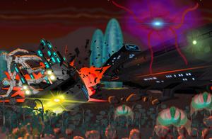 Terrain Chariot Under Attack