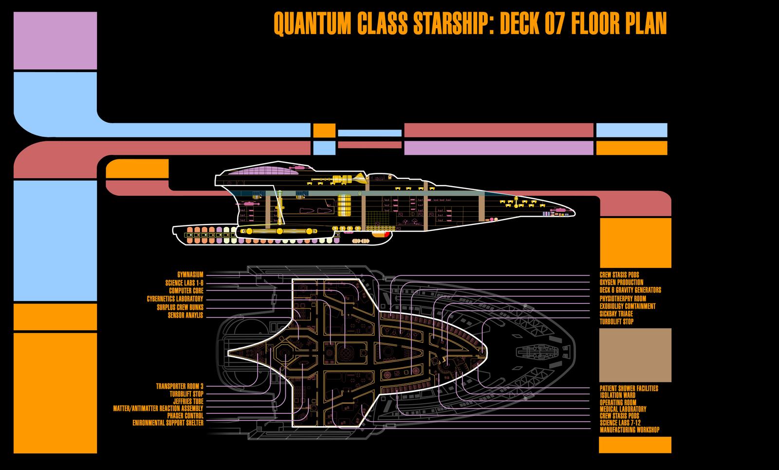 LCARS DECK PLAN DECK 7 USS SWIFTWIND