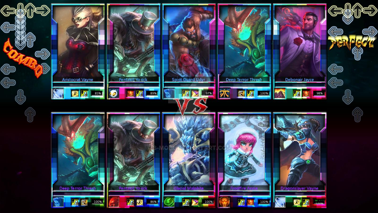 Mobile game loading screen league