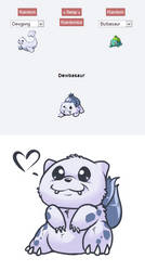 Pokemon Fusion Dewbasaur by UltraHurtMan