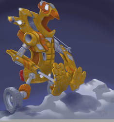 Snow push robot