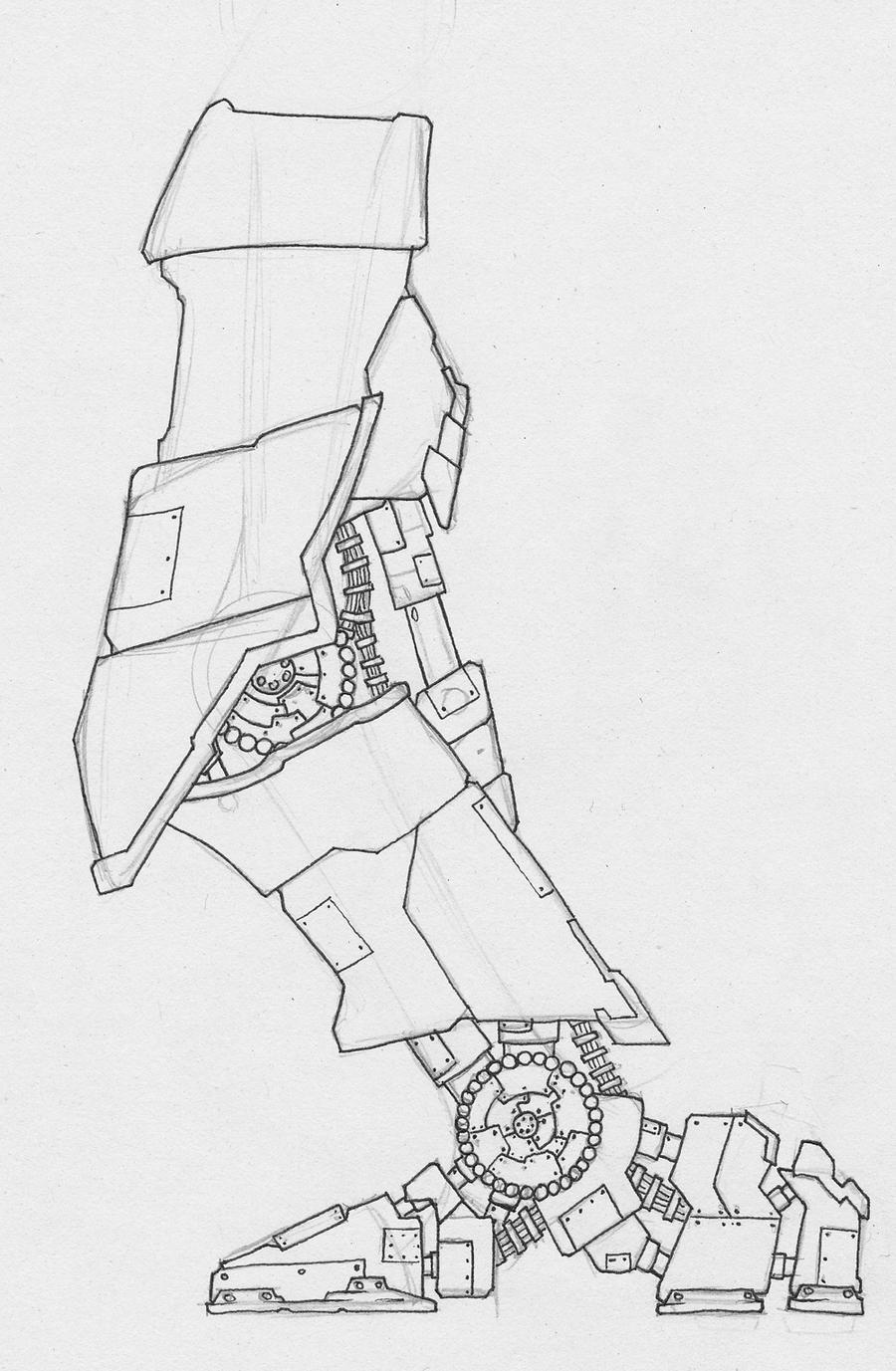 robot leg by phantom660