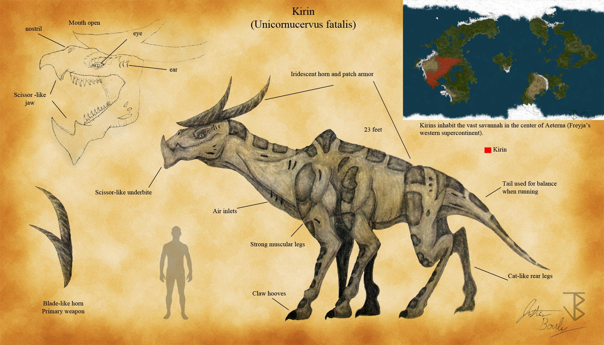 Kirin (Unicornucervus fatalis) by jbconcepts87