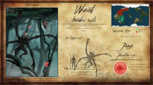 Wraith (Antitheus exilis) Creature Sheet by jbconcepts87